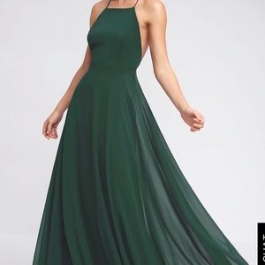 Lulu's green maxi dress WORN ONCE